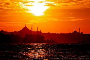 Sunset on Istanbul