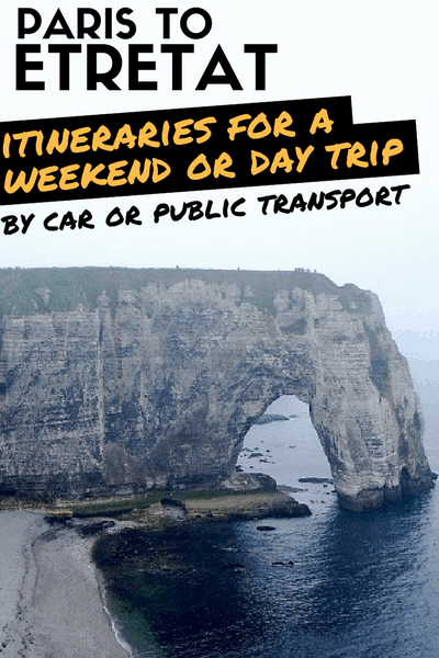 Paris Etretat: Itinerary by train or by car for a day trip or a weekend trip