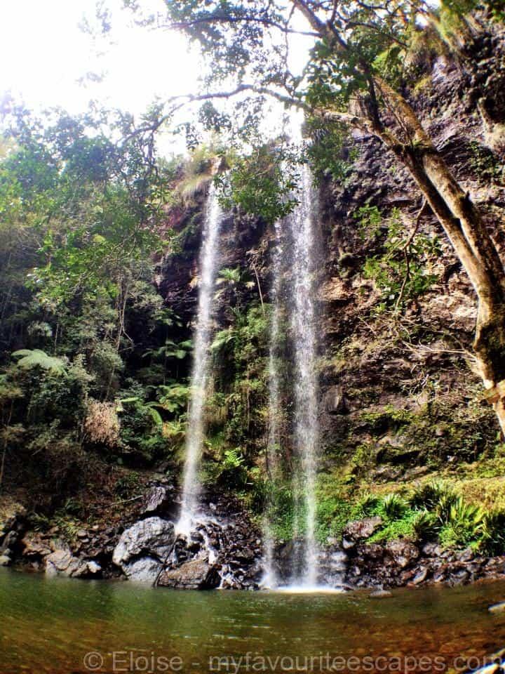 Sprinkbrook National Park Waterfalls - Twin Falls