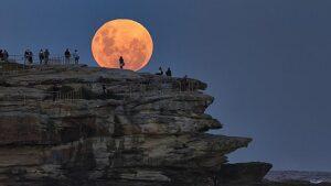 super moon rise bondi 2014
