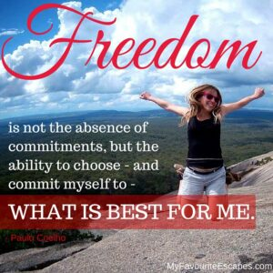Freedom is not the absence of commitments,