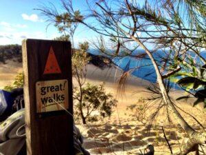 Cooloola NP Hike Rainbow Beach Carlo Sandblow