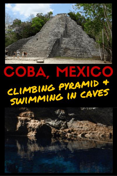 Climb Coba Pyramid and Swim in Coba Cenotes