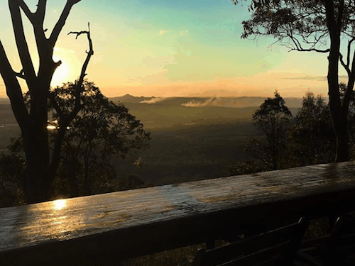 Best Brisbane Sunset Mount Tamborine Hang glider lookout