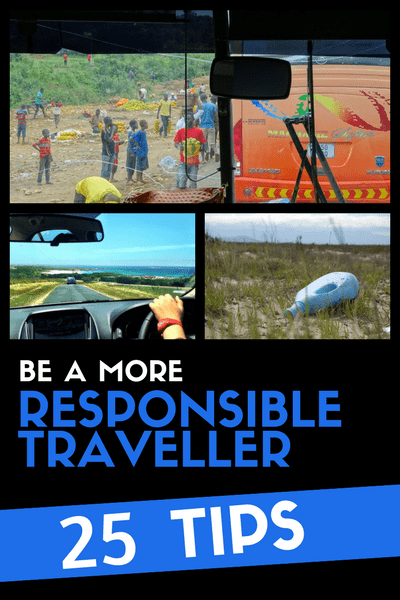 25 tips - be a more responsible traveller