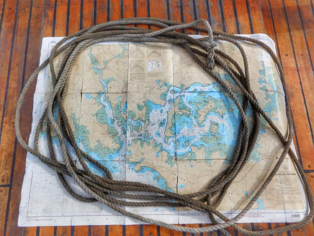 Sailing Brittany Saint Goustan - Indomptable - Map Morbihan