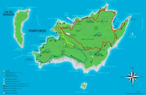 port cros hiking map snorkelling trail