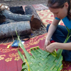 Weaving on Lifou Island in New Caledonia