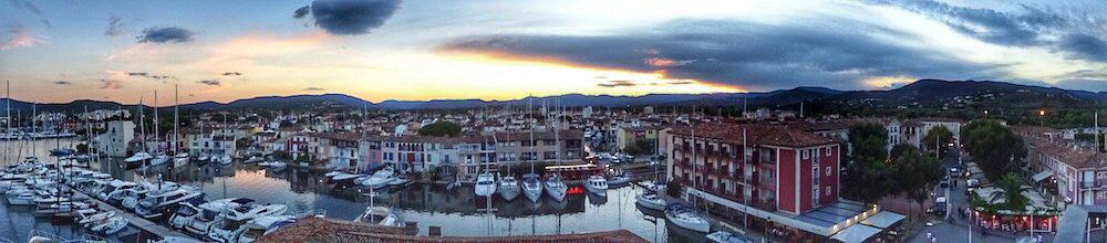 Port Grimaud from Church St Francis of Assisi