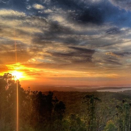 Nelson Bay - Gan Gan Lookout at Sunset
