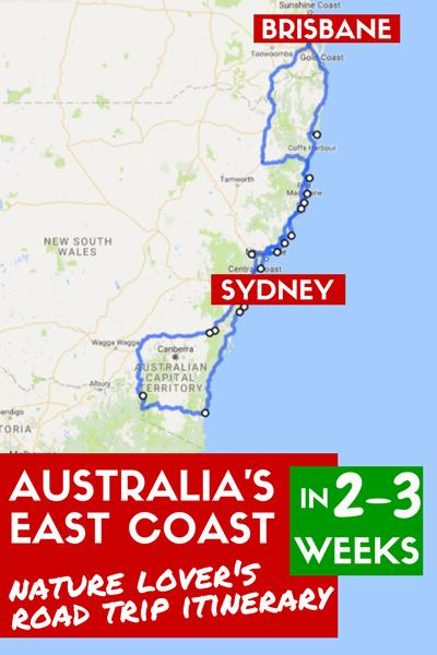 East Coast Australia Road Map.East Coast Australia Road Trip Itinerary For Adventure Nature Lovers