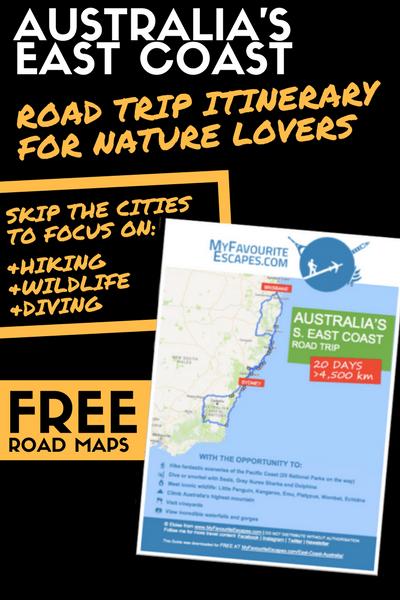 East Coast Australia Map Detailed.East Coast Australia Road Trip Itinerary For Adventure Nature Lovers