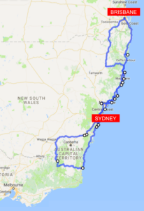 Australia Map Road Trip.East Coast Australia Road Trip Itinerary For Adventure Nature Lovers