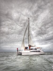Moreton Bay boat hire brisbane catamaran - sailing moreton bay