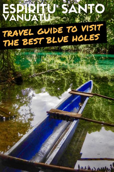 Blue holes Espiritu Santo Vanuatu