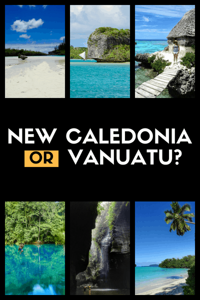 New Caledonia or vanuatu south pacific islands