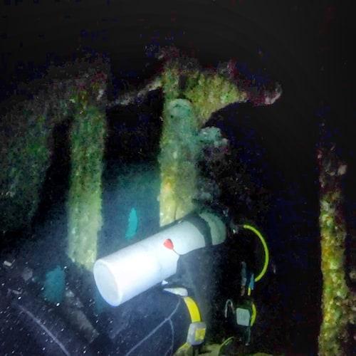 SS Coolidge Dive 2 Narrow Passage