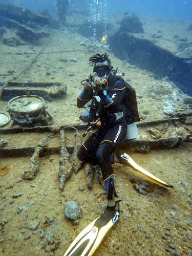 SS Coolidge Dive Vanuatu Promenade Deck Weapons