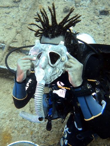 SS Coolidge Scuba Diving - Gas Mask
