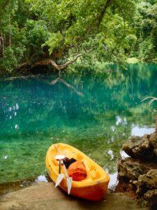 Santo Blue Holes - Matevulu canoe