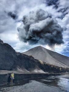 Tanna Volcano hike in ash pain