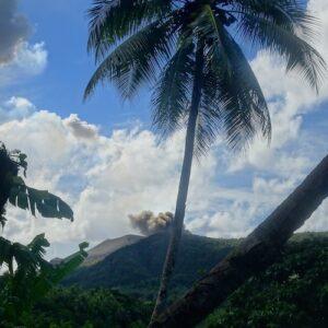 Vanuatu Volcano Tanna Mt Yasur from Etapu