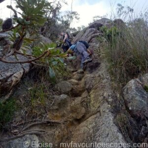 Mount-Barney-Hike Scrambling