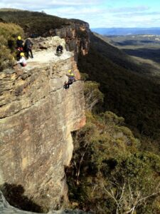 Overcoming Fear Of Heights - abseiling blue mountains