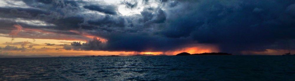 Whitsundays Sunset With Rain
