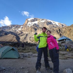 At the camp evening Kilimanjaro hike