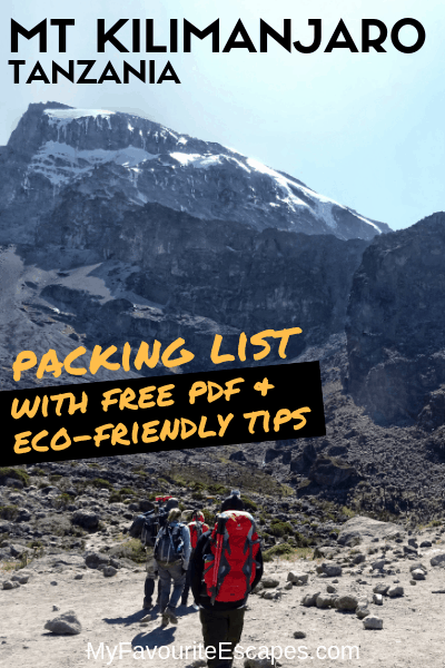 Mt Kilimanjaro Packing List eco-friendly tips