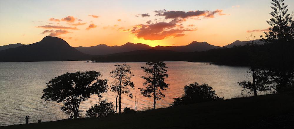 Lake Moogerah Sunset Qld Australia Road Trip