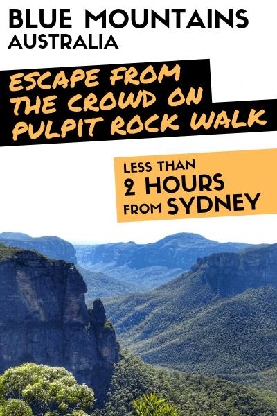 Pulpit Rock Blackheath Blue Mountains Australia Sydney