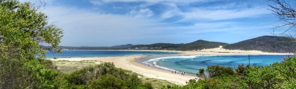 View of Fingal Bay from Shark Island (Port Stephens)
